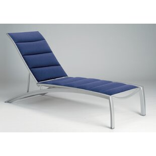 Tropitone South Beach Padded Sling Reclining Chaise Lounge