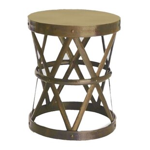 Hammered Drum Cross Table / Stool by Fashion N You by Horizon Interseas