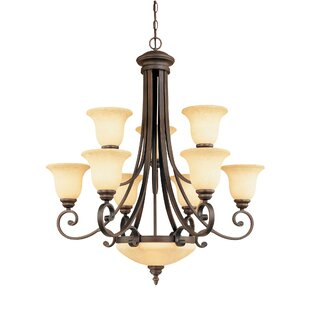 Hambleden 11-Light Semi Flush Mount by Alcott Hill