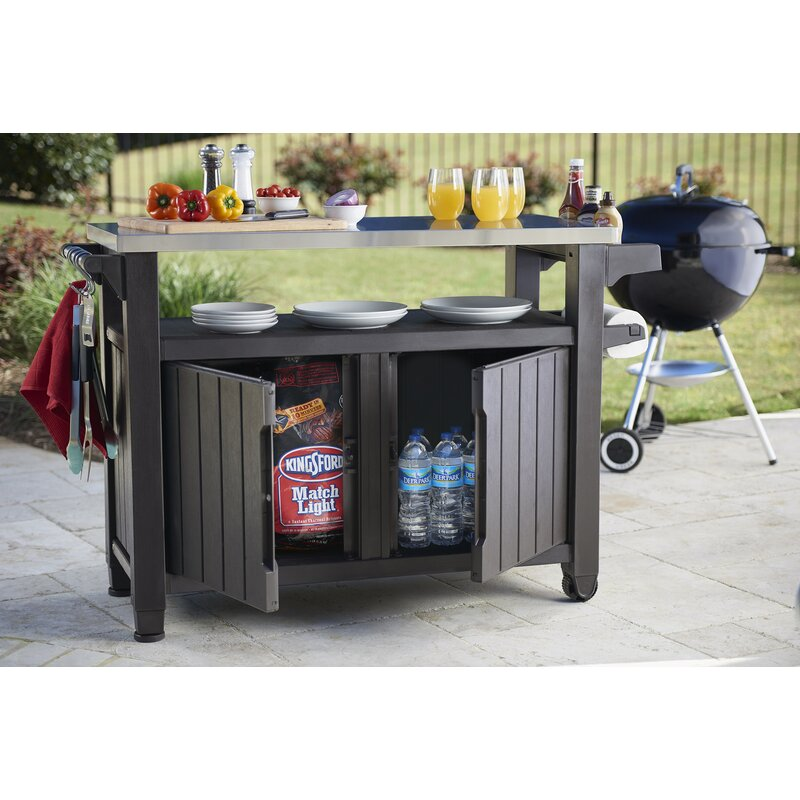 Cambron Caster Bar Serving Cart