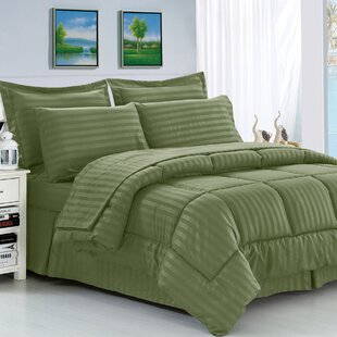 Veans Microfiber Reversible 8 Piece Comforter Set