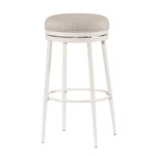 Lauri Round Backless Swivel Bar Stool by Highland Dunes