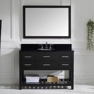 Rishaan 49 Single Bathroom Vanity Set with Mirror ByWilla Arlo Interiors