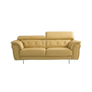 Giusti Leather Loveseat by..