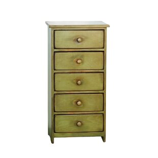Reviews Leesburg 5 Drawer Accent Chest By August Grove