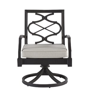 Euston Swivel Patio Dining Chair with Cushion (Set of 2)
