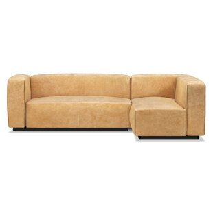 Modern & Contemporary Top Grain Leather Sectionals | AllModern