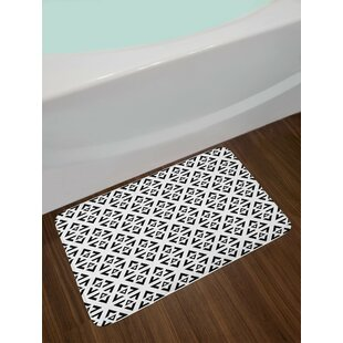 Abstract Art Monochrome Bath Rug