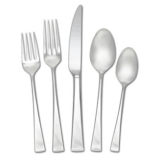 Lucia 20-Piece 18/10 Stainless Steel Flatware Set, Service for 5