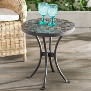 Outdoor side tables youll love wayfair brie mosaic side table watchthetrailerfo
