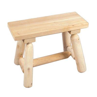 Rustic Natural Cedar Furniture Straight Wood Garden Bench