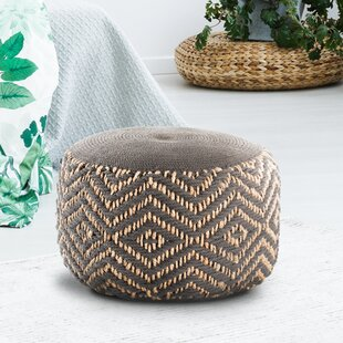 Diamond Hand Woven Pouffe By World Menagerie