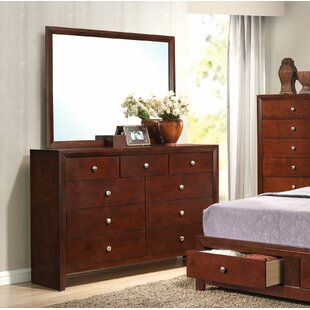 Alcott Hill Alexei 9 Drawer Double Dresser w..