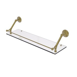 17 Stories Seanteen Floating Shelf With G..