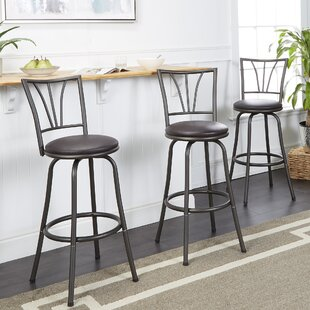 Sireci Adjustable Height Swivel Bar Stool (Set of 3) by Winston Porter