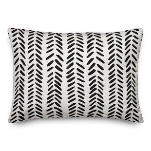 Estevao Modern Herringbone Lumbar Pillow
