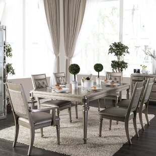 Crystal 7 Piece Dining Set Rosdorf Park