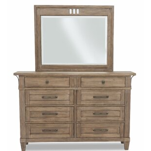 Ariel 8 Drawers Double Dressor with Mirror