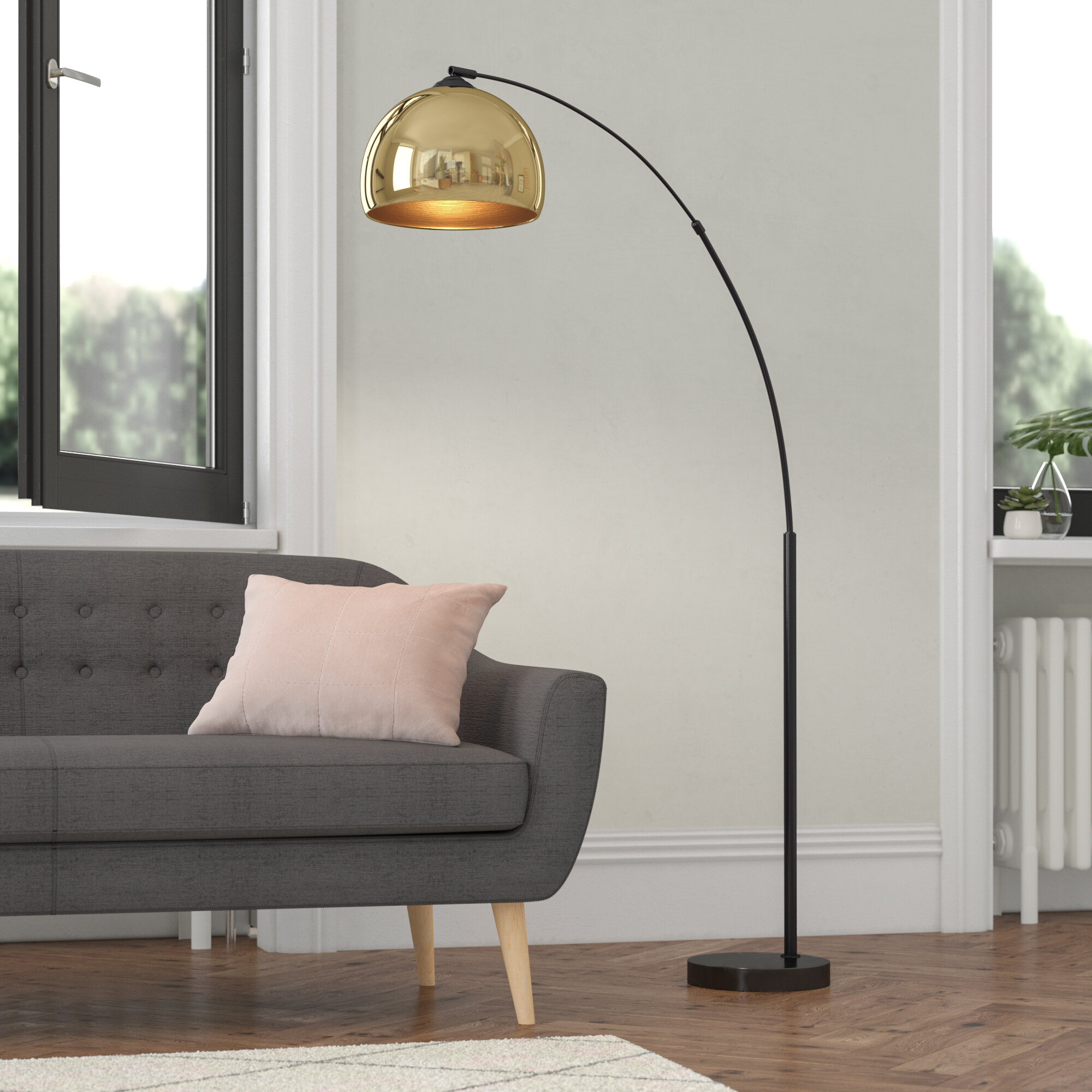 Fairmont Park Loreta 170cm Arched Floor Lamp Reviews Wayfair Co Uk