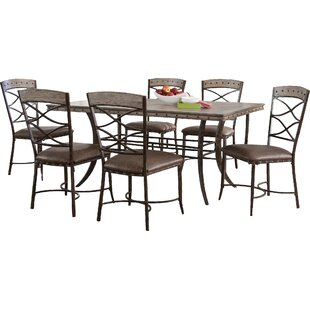 Luxton 7 Piece Dining Set Loon Peak