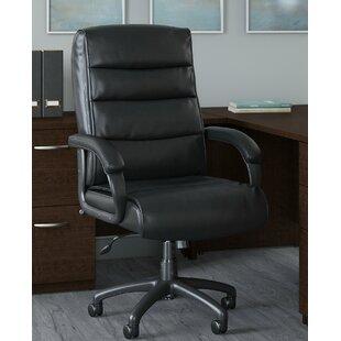 Soft Sense Mid Back Genuine Leather Executive Chair