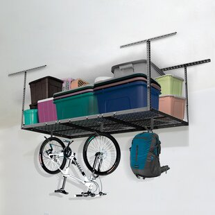 Heavy Duty Overhead Garage Adjustable Ceiling Storage Rack By FLEXIMOUNTS & Heavy Duty Overhead Garage Adjustable Ceiling Storage Rack By ...