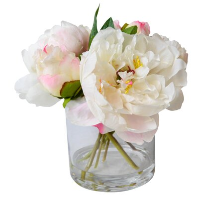T&C Floral Company Fresh Cut Faux Peony Color: Cream