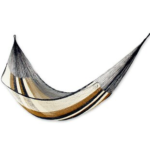 Novica Single Person Easy Travel Hand-Woven Mayan Artists of the Yucatan Nylon With Accessories Included Camping or Outdoor Hammock