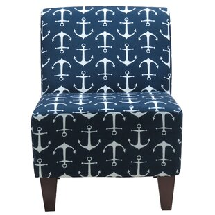 Beachcrest Home Donnington Anchor Armless Slipper Chair