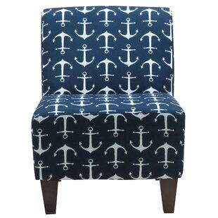 Beachcrest Home Donnington Anchor Armless Slipper Chair