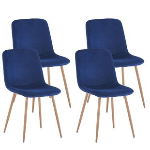 Curlee Upholstered Dining Chair Set of 4 by George Oliver