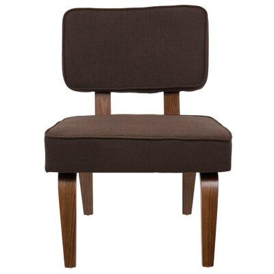 Brayden Studio Jimison Slipper Chair Upholstery: Brown