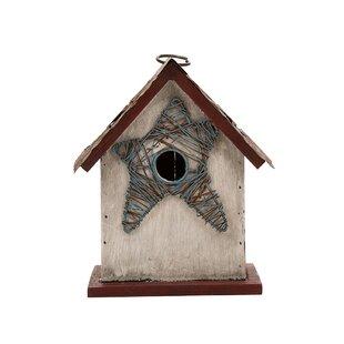 Glitzhome Star 8in x 7in x 5in Birdhouse