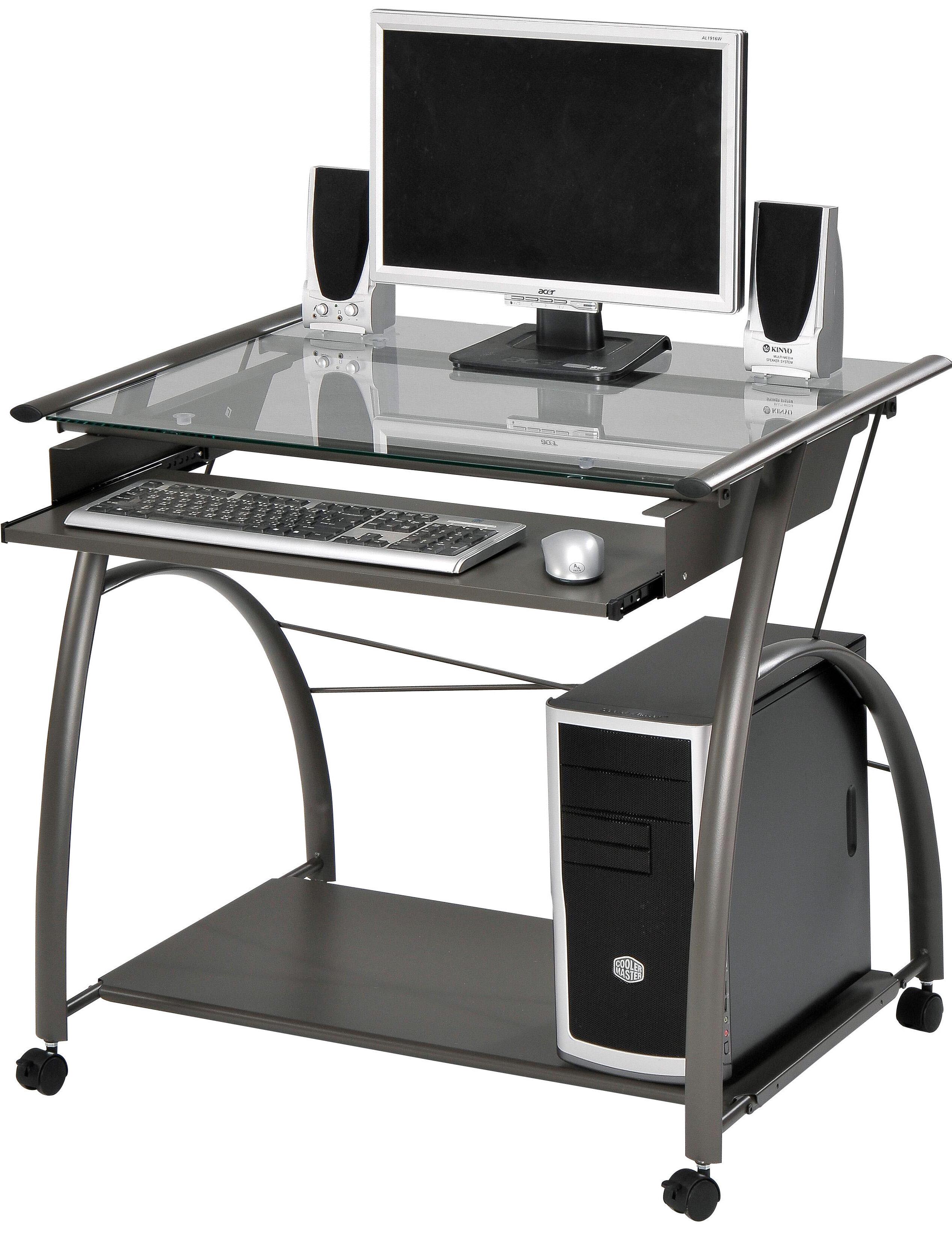 ACME Furniture Vincent Pewter Computer Desk & Reviews | Wayfair