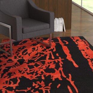 Read Reviews Chidi Black/Red Area Rug ByEbern Designs