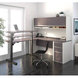 Orren Ellis Aurea L-Shape Desk Office Suite with Hutch