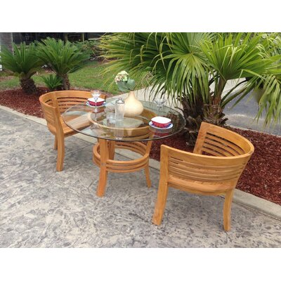 Meyer Half Moon 3 Piece Teak Bistro Set by Bay Isle Home Looking for