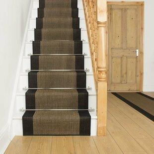 Almerton Flatweave Black Stair Runner Image