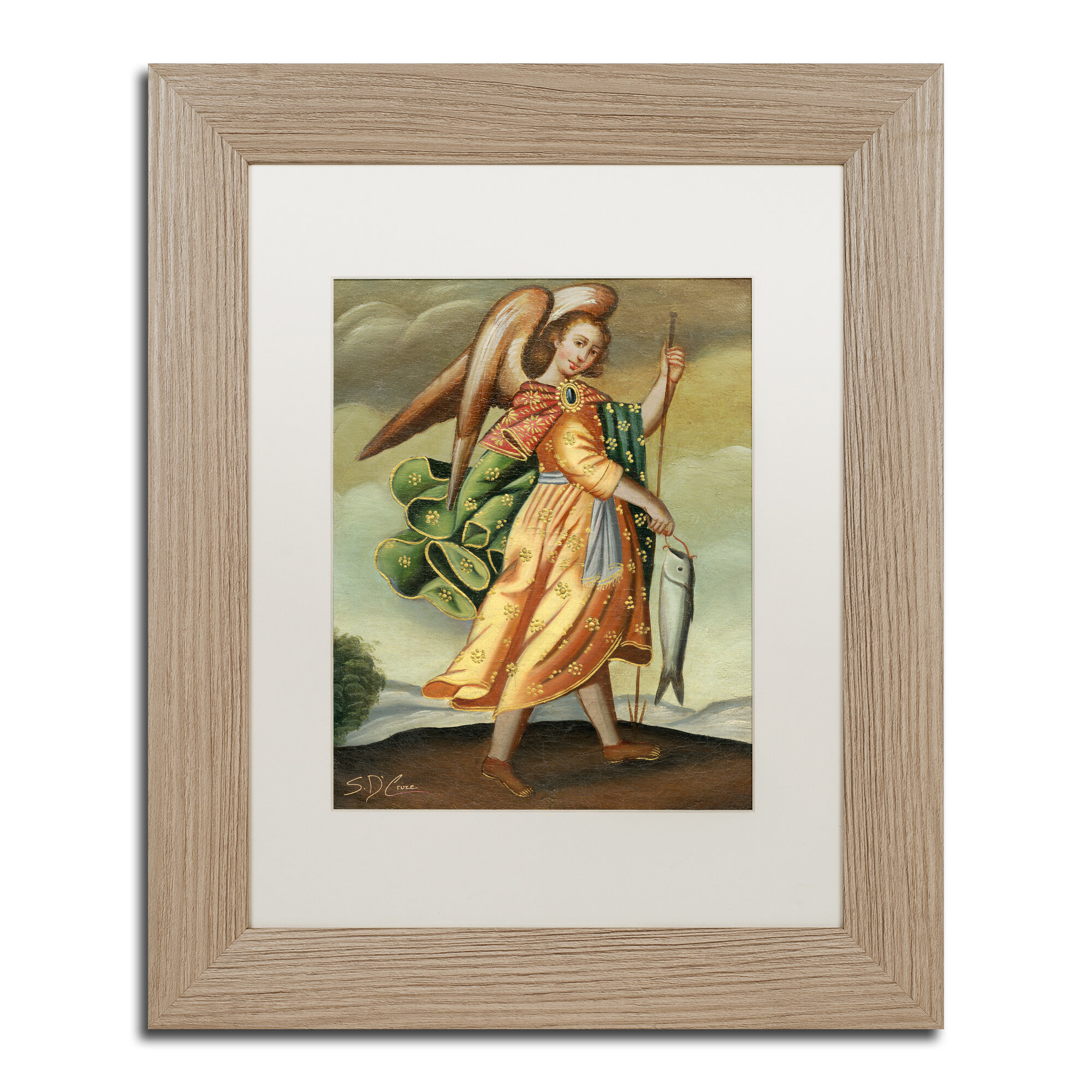 Trademark Art Fishers Of Men By Sergio Cruze Framed Painting Print On Canvas In Brown Wayfair