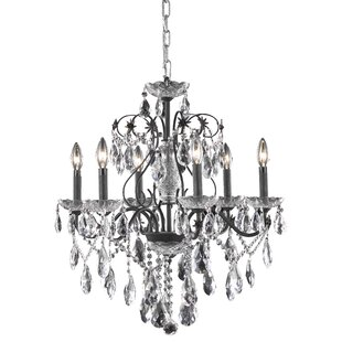 Rosdorf Park Thao Traditional 6-Light Candle Style Chandelier