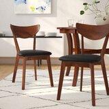 Septimus Side Chair in Dark Walnut/Black (Set of 2) by Langley Street™