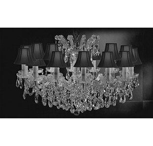 Astoria Grand Alvarado Swarovski 14-Light Crystal Chandelier