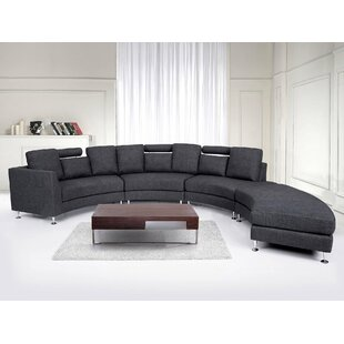 Orren Ellis Crivello Curved Sectional Sofa