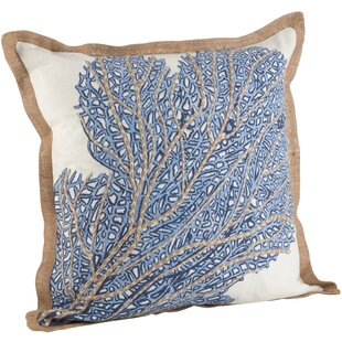 Aloisia Sea Fan Cotton Throw Pillow