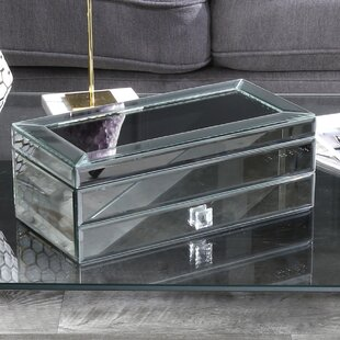 Best Deals Mirrored Jewelry Box By Sagebrook Home