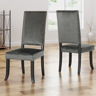Callihan Upholstered Dining Chair (Set Of 2) by House of Hampton 2019 Coupon