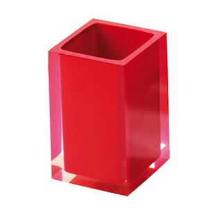 Red Toothbrush Holder Bathroom Accessories