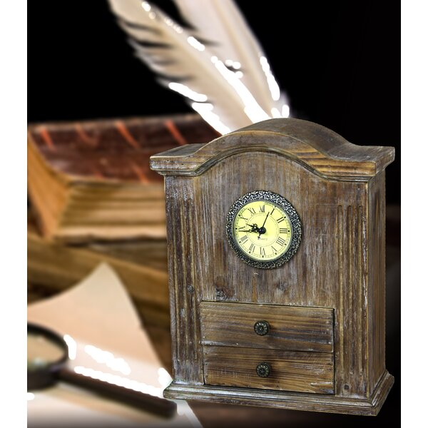 - Quickway Imports Vintage Wooden Desk Clock Wayfair