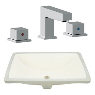 Top Reviews CSA Ceramic Rectangular Undermount Bathroom Sink with Faucet and Overflow By Royal Purple Bath Kitchen