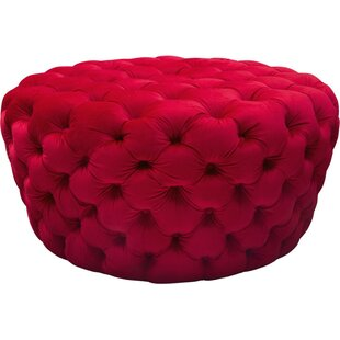 Winterville Button Round Tufted Cocktail Ottoman by Everly Quinn